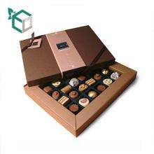 Роскошная Коробка печатания CMYK бумажная конфеты коробка шоколада упаковывая с крышкой