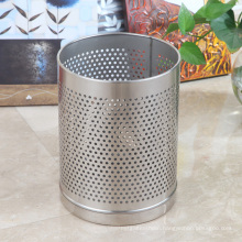 Round Hole Stainless Steel Round Open Top Garbage Bin (JA-12LB)