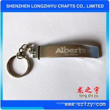 Llavero abridor de botella llavero simple logotipo de metal llavero