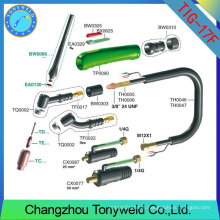 weldcraft WP-17F flexible head torch body TIG welding torch
