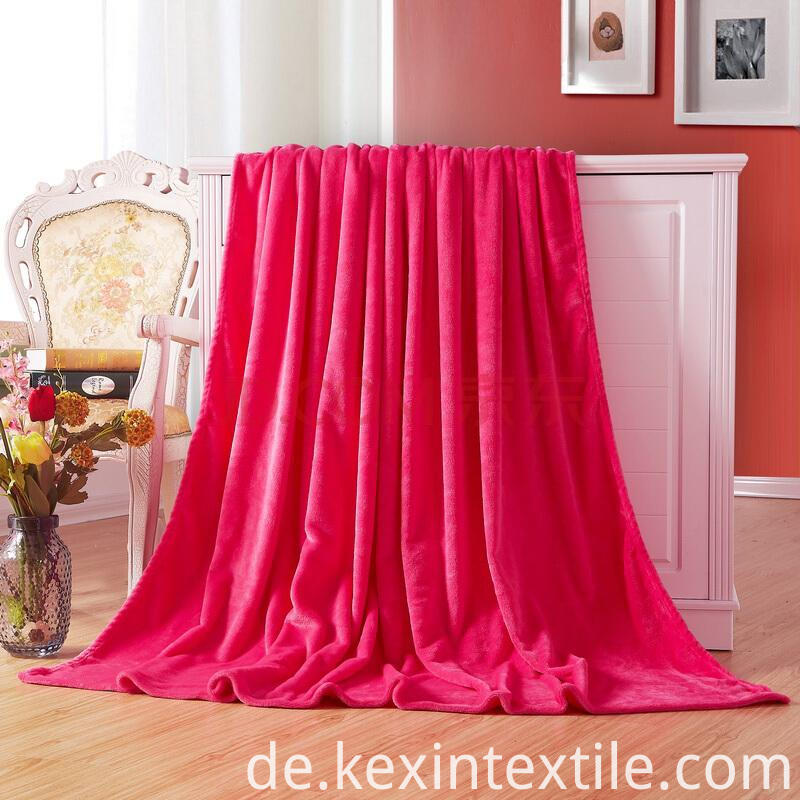 solid color flannel coral blanket