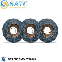 SATC Zirconia flap disc para polimento de aço inoxidável