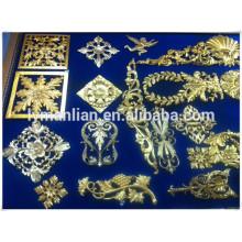 molduras de madera tallada / molduras de madera de corona / uso de muebles decoración resina flor
