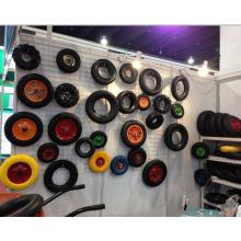 Rueda sólida de la espuma de la PU, neumático sólido 4.00-8 de la carretilla de la rueda de la PU