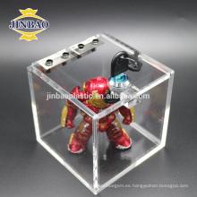 El nuevo diseño de Jinbao personaliza el soporte floral de acrílico de la flor del soporte de exhibición de cristal claro