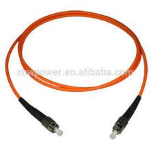 Cordon de raccordement de fibre multimodal ST standard de télécommunication, câble de câble optique
