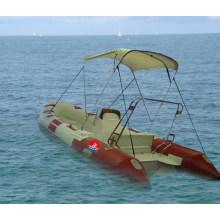 Barco com costela / barco inflável rígido de 4,2 m com console e F15HP (RIB420B)