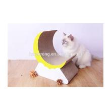 Factory supply fashion corrugated cardboard pet cat scratcher lounge toys durable cardboard cat scratcher CT-4049