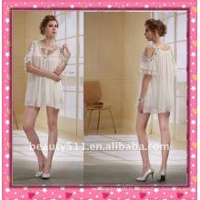 Astergarden Nouveau design Emma Roberts Style perlé Robe en mousseline d'honneur AS032-3