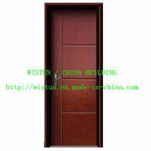 0,5 mm Nova porta de madeira de aço inoxidável