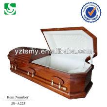 white velvet cherry wood US casket