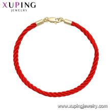 75555 xuping última moda de alta calidad con 14k chapado en oro pulsera unisex