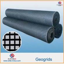 Plástico PP HDPE Pet Fiberglass Geogrids
