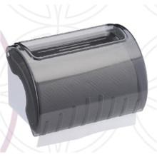 Decorative Hotel Public Toilet Wholesale Dark Translucent Round Plastic Wall Mounted Tissue Paper Towel Dispenser