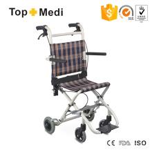 Topmedi Hot Selling Transit Leichter Aluminium-Rollstuhl Sell