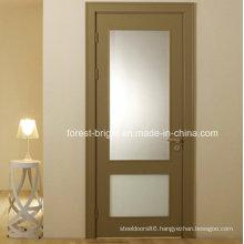 Veneer MDF Glass Insert Wood Interior Door