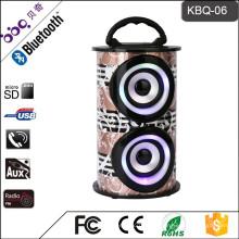 Stereo-Mobil-Radio-Boombox-Lautsprecher mit USB SD AUX-Lautsprecher tragbares Bluetooth-Audiosystem