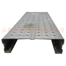 Tablón de andamios de acero perforado galvanizado