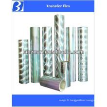 transparent holographic lamination film