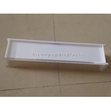 Tisch-Spitze-heller weißer einzelner Acryllippe-Balsam-Ausstellungsstand, kundenspezifische Größe 3Mm Schatullen-Ausstellungsstandplatz