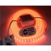 Lumière flexible de 220V 110V 5050 LED NON imperméable / imperméable 60LEDs / m 5m / lot Lumière de bande de LED RVB / RGBW