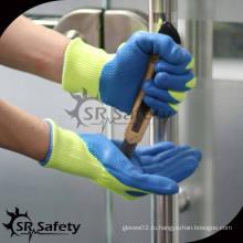 SRSAFETY 13G трикотажные латексные перчатки с перфорацией / перчатки с антикоррозионным покрытием / перчатки CE