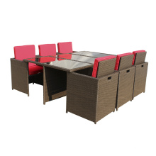 Klassische Outdoor Rattan Cube Tisch Möbel Restaurants
