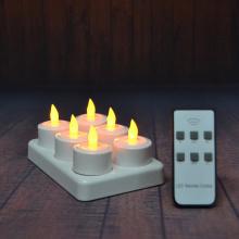 Conjunto de 6 velas recarregáveis led tealight