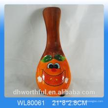 Cutely Apfel Figur Keramik Löffel Rest für Küche Dekor