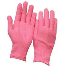 NMSAFETY anti dust work use Pink nylon or polyester labor gloves factory