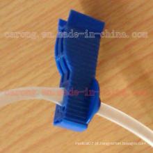 Clip de tubulação de diálise de plástico médico