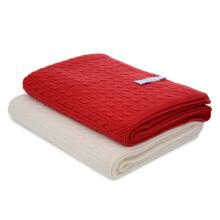 Cobertor de Malha Cashmere Puro com Cabos