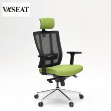 Хорошее качество обивки ткань эргономичная высокая спинка персонал стул стул с регулируемым подлокотником