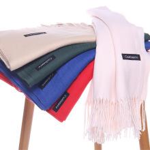 Bufanda de cachemir de imitación de color puro bufanda de cachemir