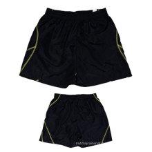 Yj-3014 Mens Black Lined Microfiber Sports Summer Shorts for Men