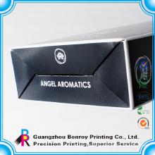 Glossy lamination black custom packaging design perfume