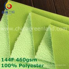 Polyester-Schuss-gestricktes polares Vlies-Gewebe für Kleidungs-Gewebe (GLLML380)