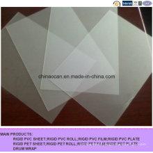 400 Mircon Clear Matt Embossed PVC Sheet for Printing