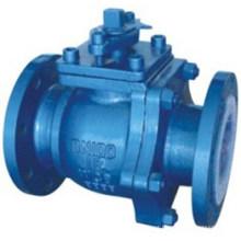 Válvula de esfera anti-corrosão do revestimento de aço carbono F46 PTFE