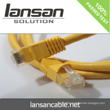 Lansan cat6 UTP 2m patch cord stranded copper cable 4P*26AWG 7*0.16mm BC pass FLUKE test