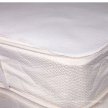 cotton flannel flat white waterproof mattress pad with elastic