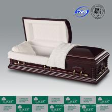 Style américain populaire placage cercueil cercueil pour enterrement