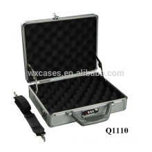 aluminum pistol carrying case with foam inside good quality