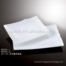 special white rectangular plates porcelain