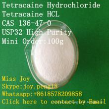 HCl CAS do Tetracaine do HCl da tetracaína de HCl do Tetracaine de alta pressão alívio de dores anestésico local do API 136-47-0 do HCl do Tetracaine