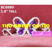 Coroas de borboletas e tiaras roxas