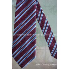Мужской полиэстер Тканый жаккардовый полосатый галстук