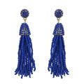 Boucles d'oreilles turquoises à perles simples et longues