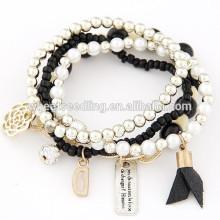 Bracelet à perles en perles multicolores à la main de 2014