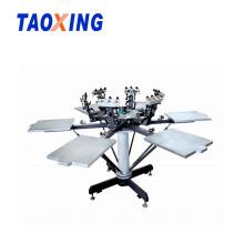 6 Color Manual T-shirt Printing Machine